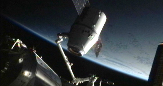 SpaceX Dragon Detached from ISS