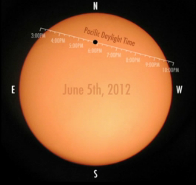 Venus Transit 2012 Time Tags