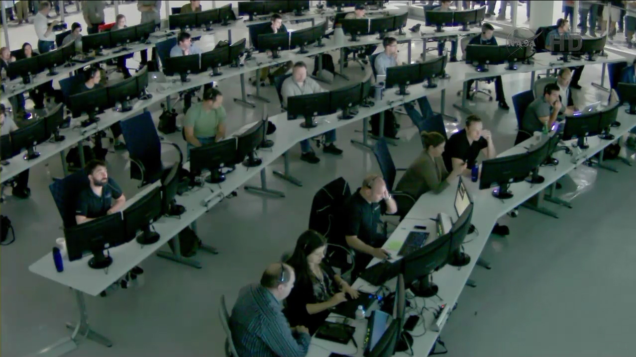 Elon Musk in SpaceX Mission Control