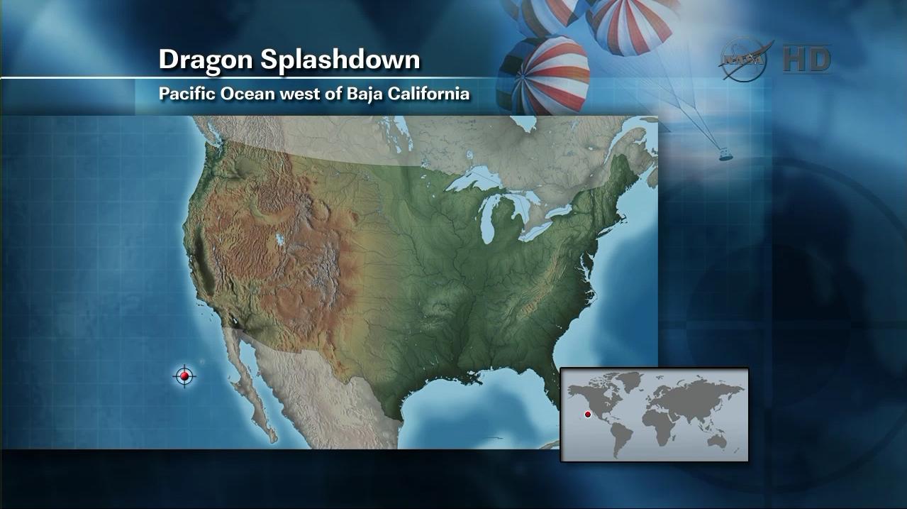 Dragon Splashdown Map