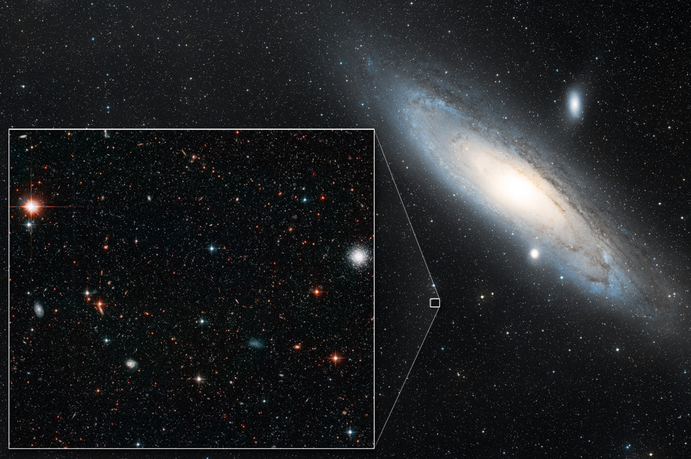 Halo of Andromeda Galaxy Used to Measure Its Drift Across Space