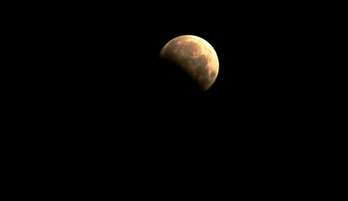 Partial Lunar Eclipse Seen from Arizona