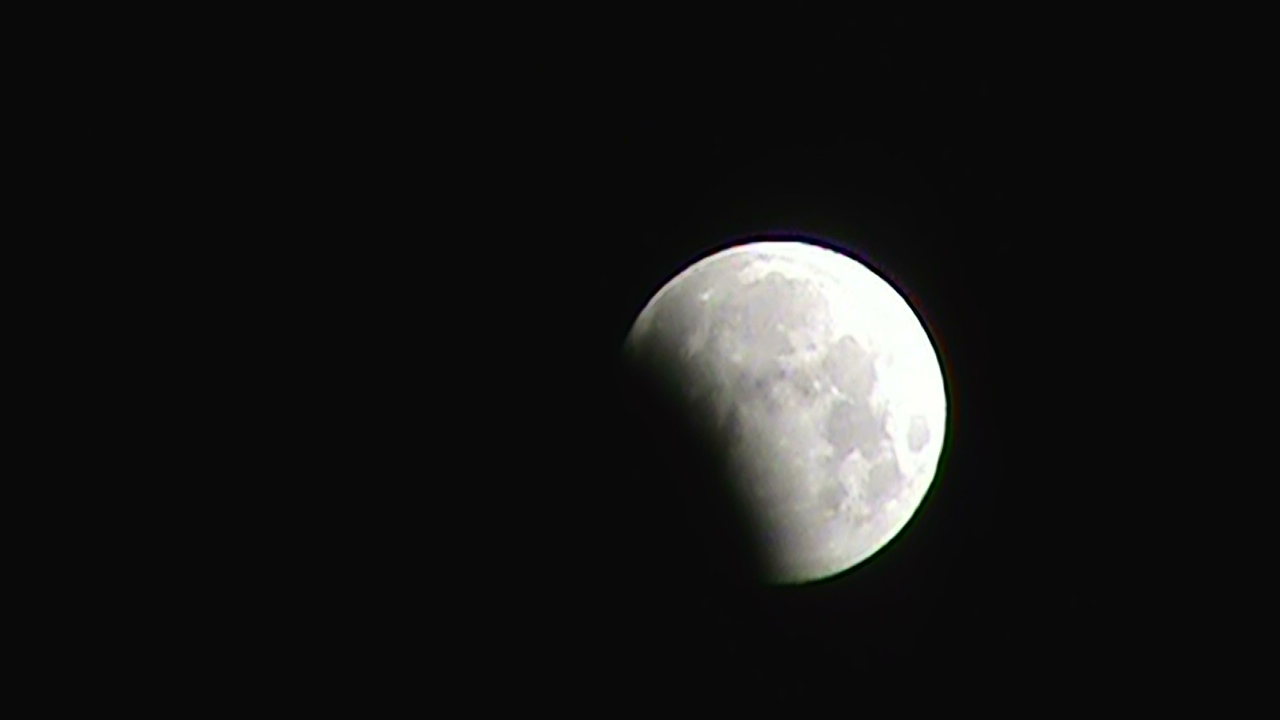 Partial Lunar Eclipse Seen from Billings, MT
