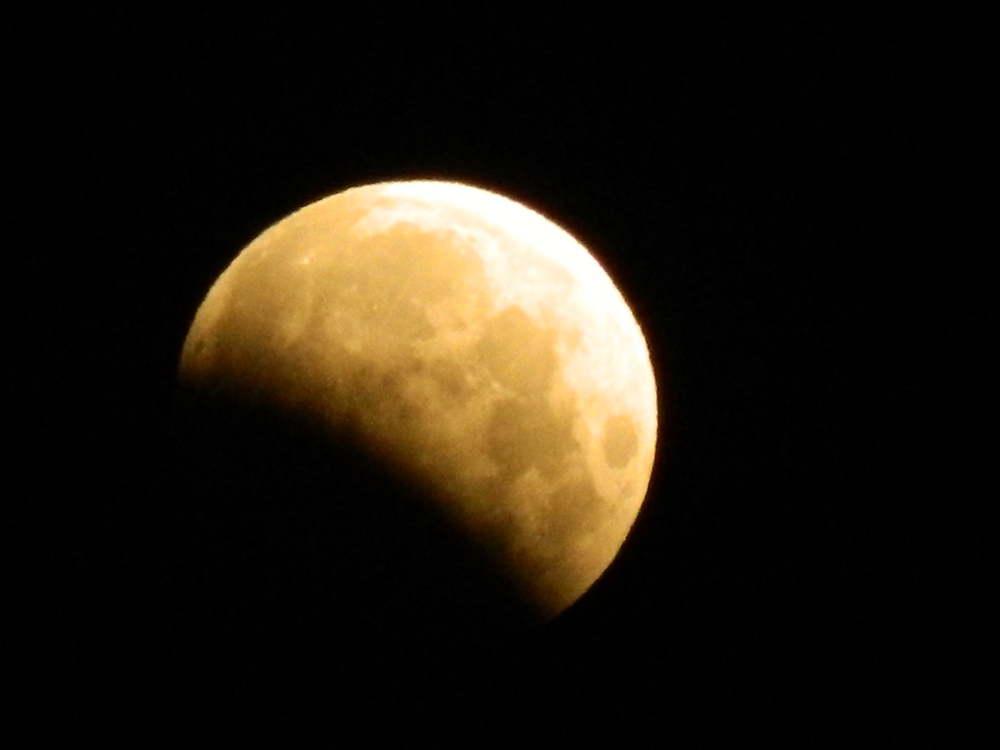 Partial Lunar Eclipse Seen from Pocatello, ID