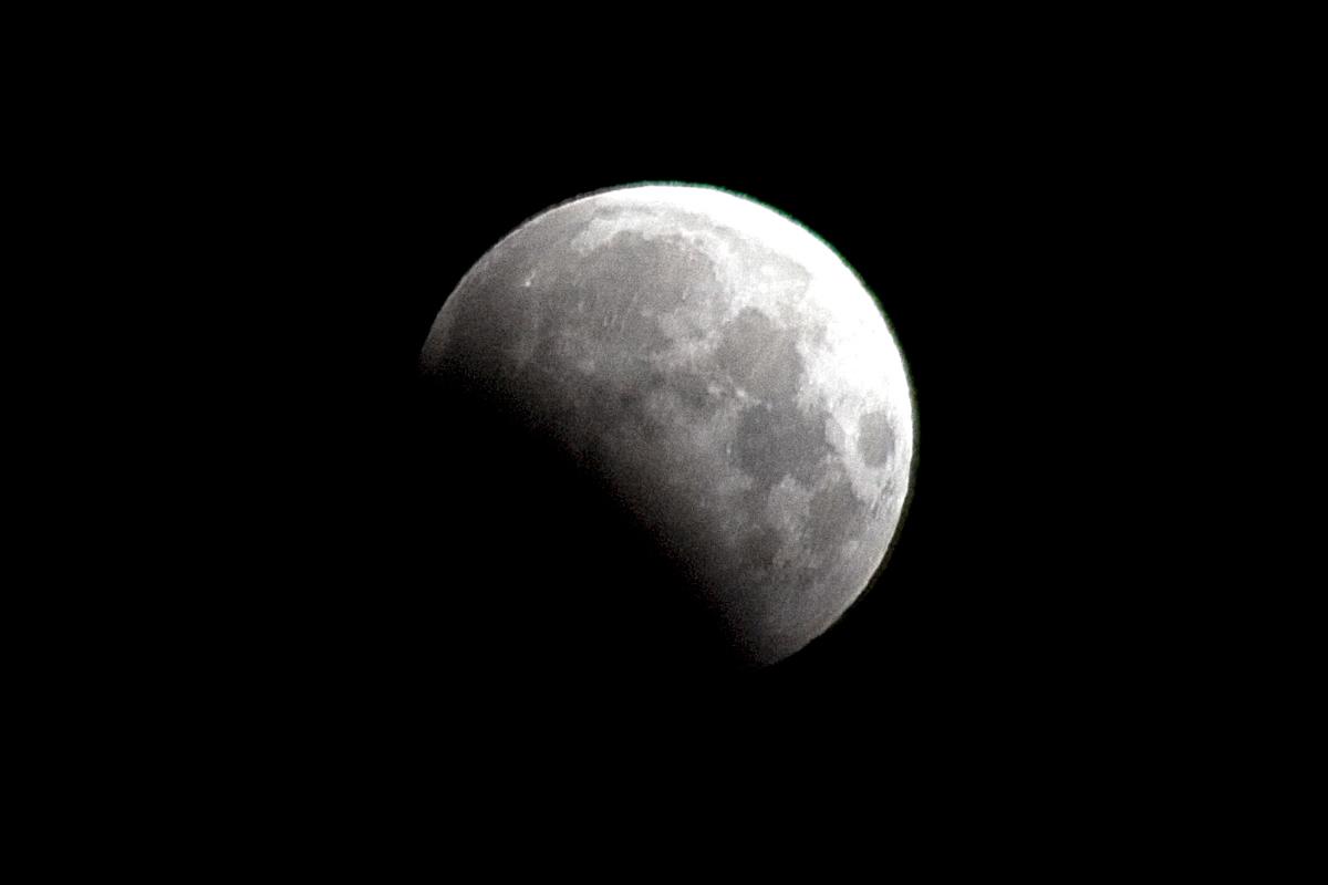 Partial Lunar Eclipse Seen from Concord, CA