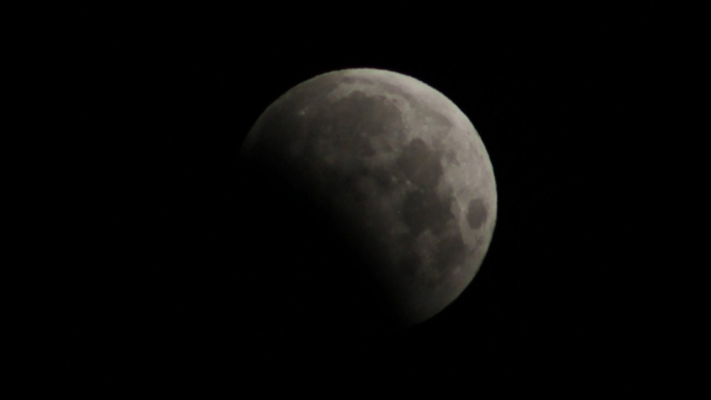 Partial Lunar Eclipse Photographed by Faherty