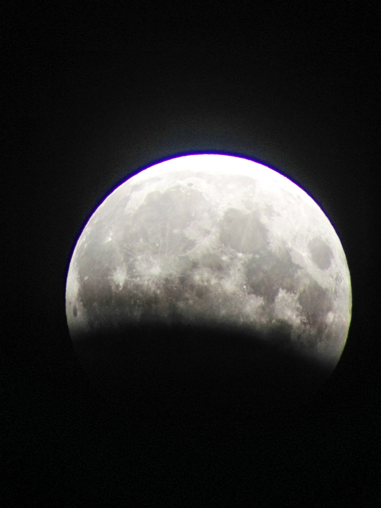 Partial Lunar Eclipse Seen from Hawaii