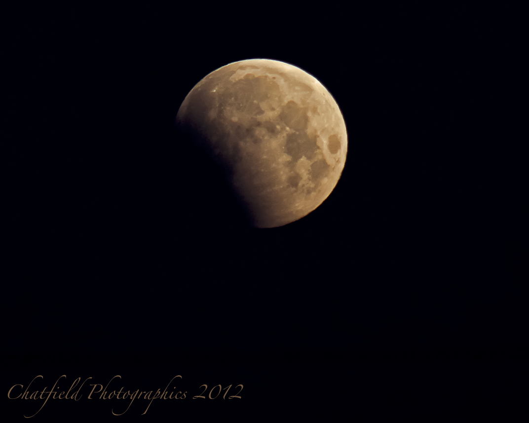 Partial Lunar Eclipse Seen from Saskatoon, SK