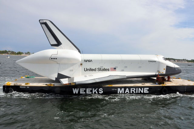Space Shuttle Enterprise on Barge
