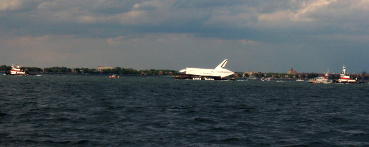 Shuttle Enterprise and Fireboat Escort