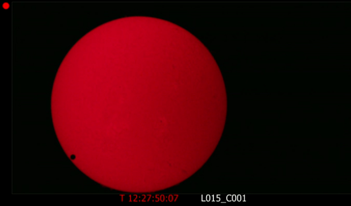 Venus Transit 2nd Contact: NASA Webcast