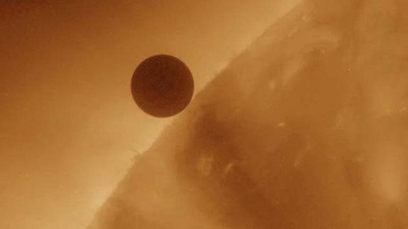 The Solar Dynamics Observatory caught Venus at first contact with the Sun during the start of its transit.