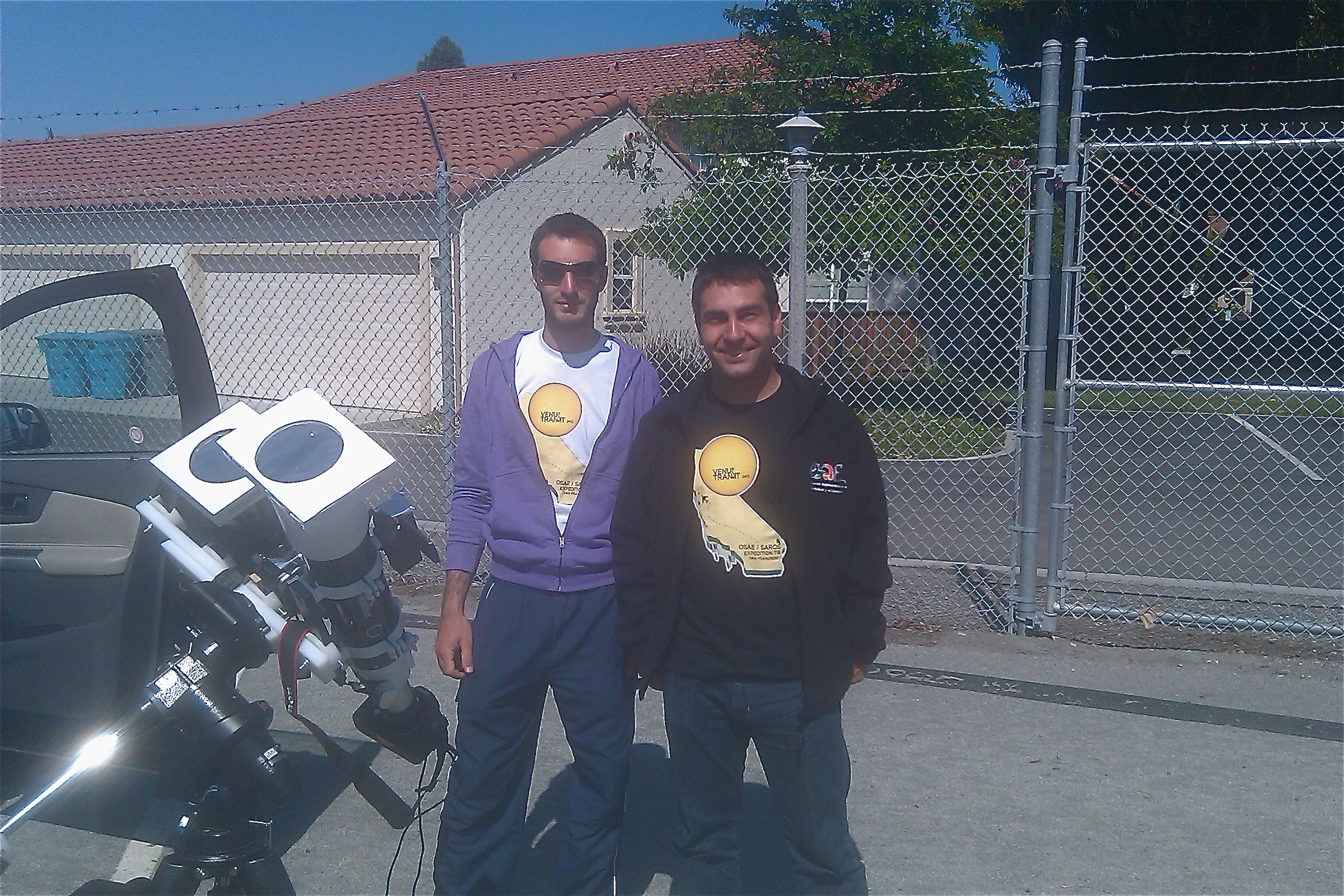 Spanish Venus-Transit Watchers in California