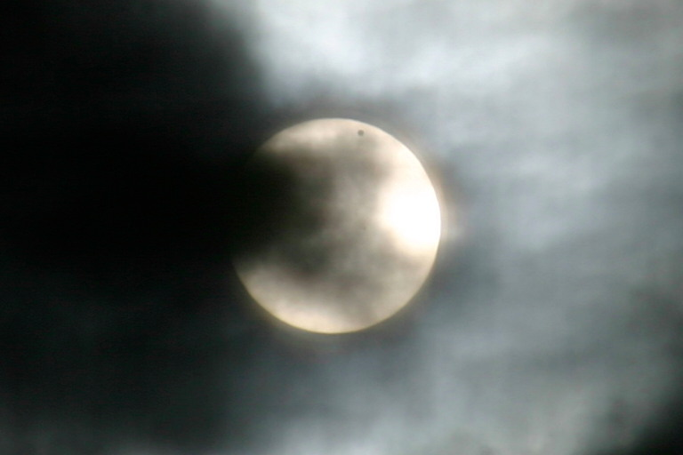 Venus Transit Through a Brooklyn Window Screen