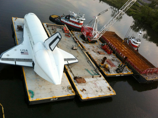 Space Shuttle Enterprise Embarks for NYC Intrepid Museum Today