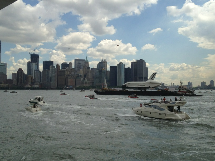 Space Shuttle Enterprise Takes Manhattan