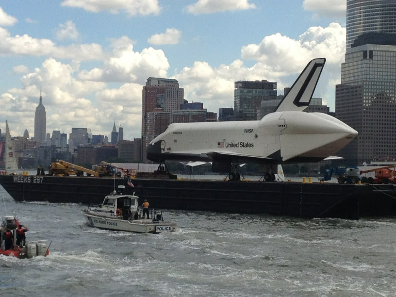 Shuttle Enterprise and Empire State Building