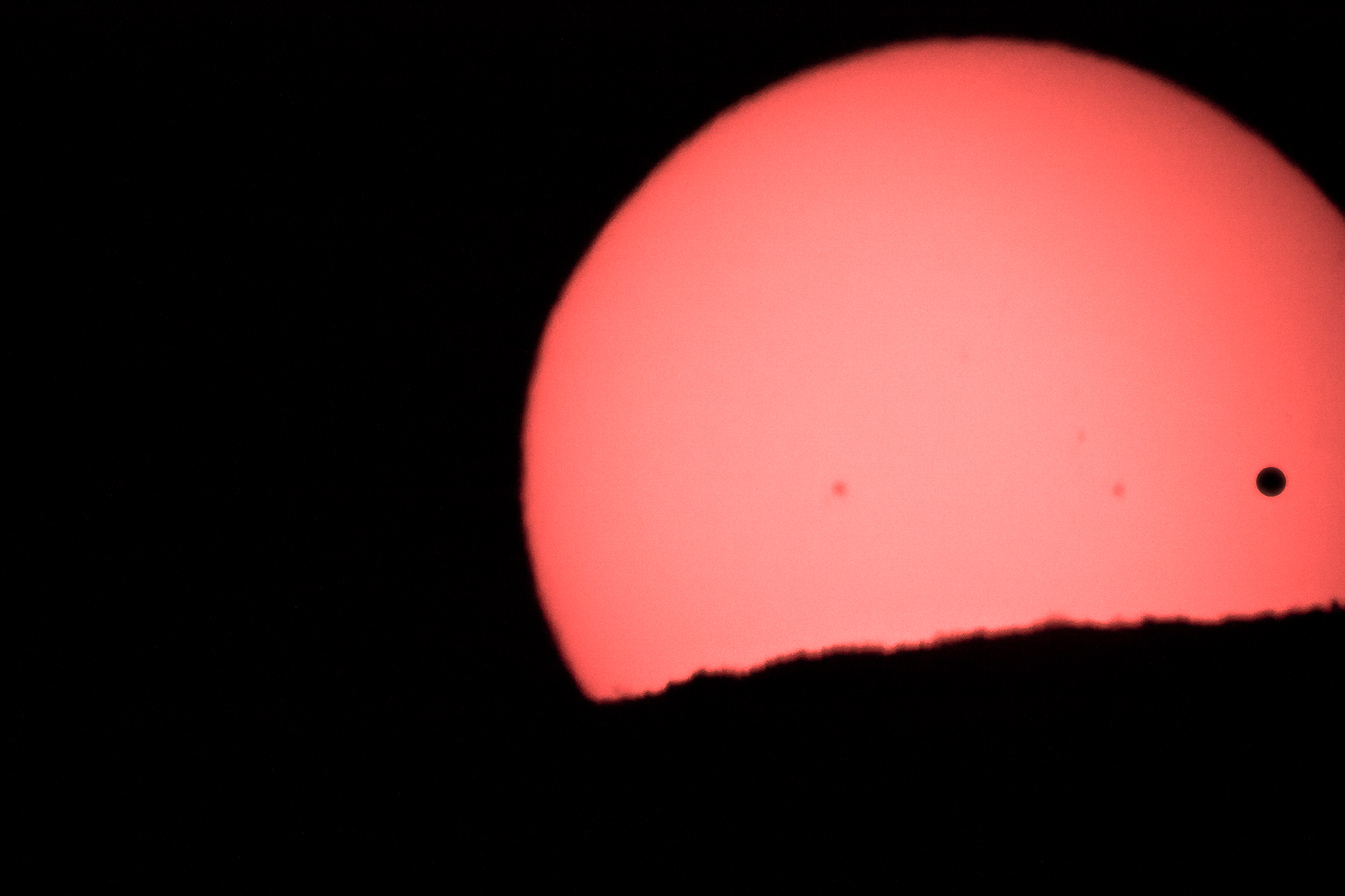 Venus Transit at Sunset