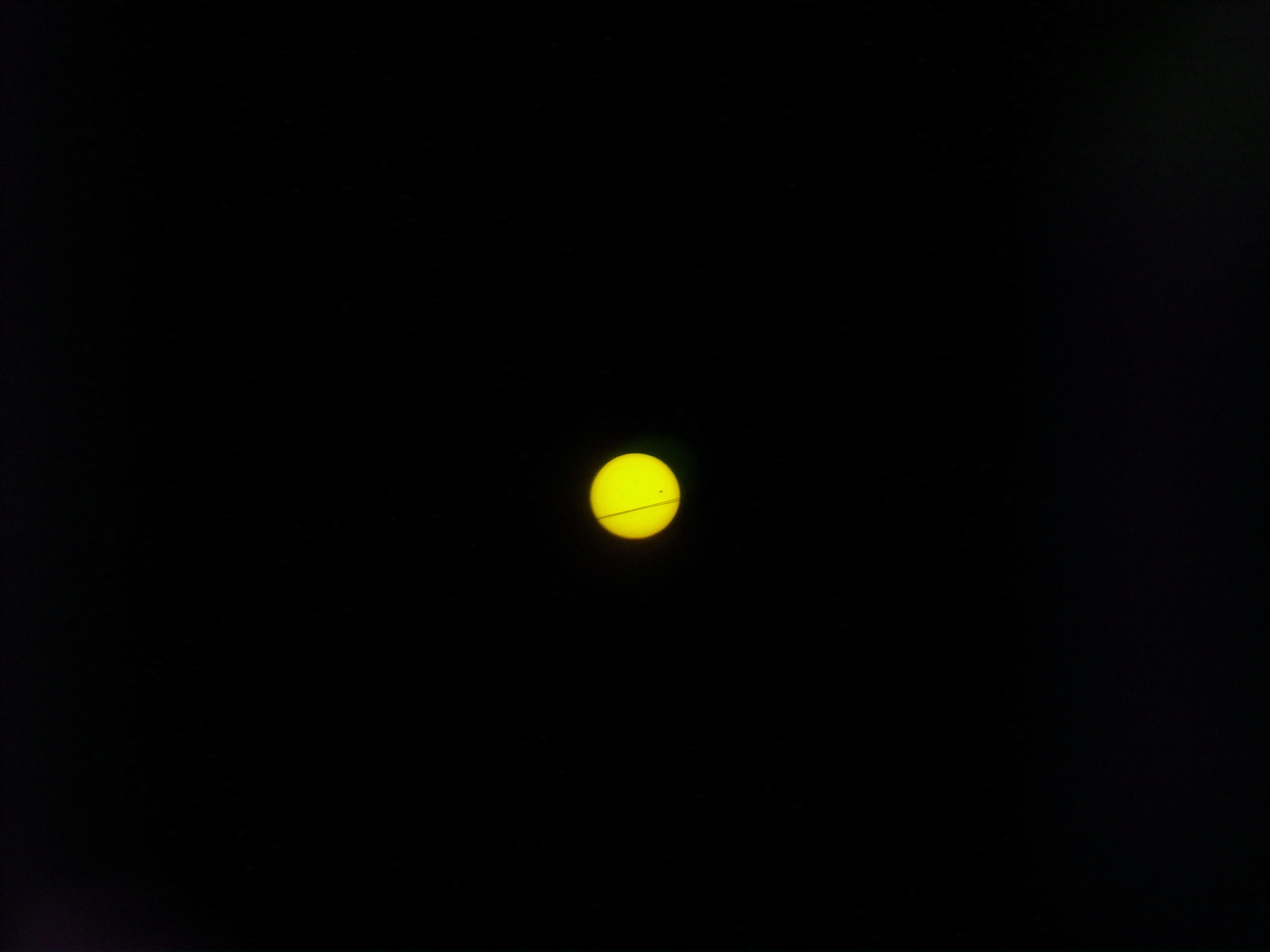 Venus Transit in Neon