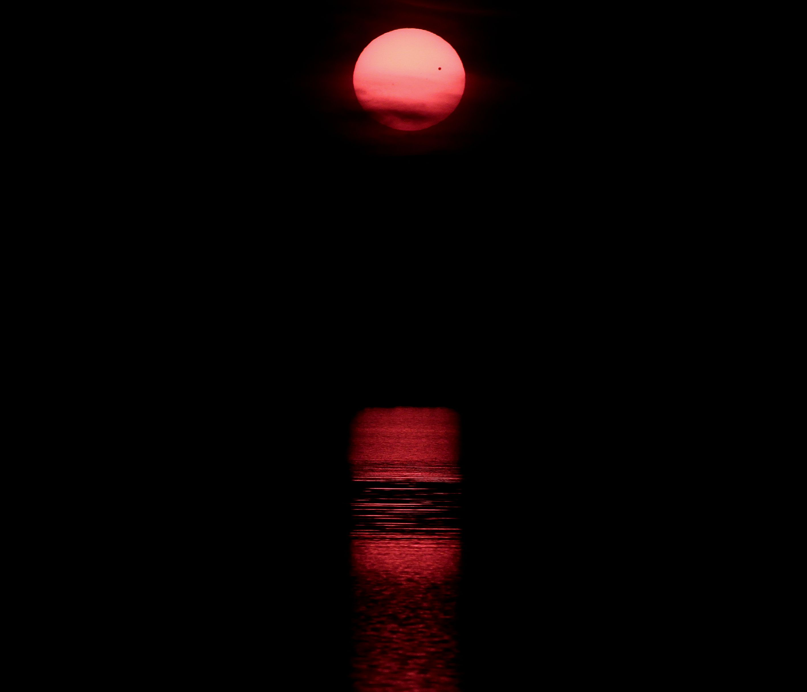 Venus Transit Over Lake