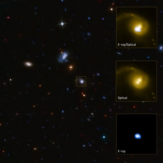 Giant Black Hole Likely Booted from Home Galaxy