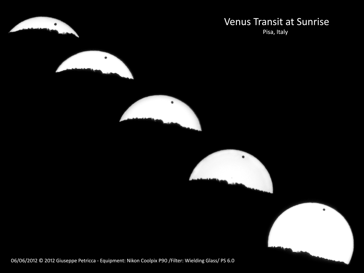 Venus Transit 2012 Seen in Pisa, Italy