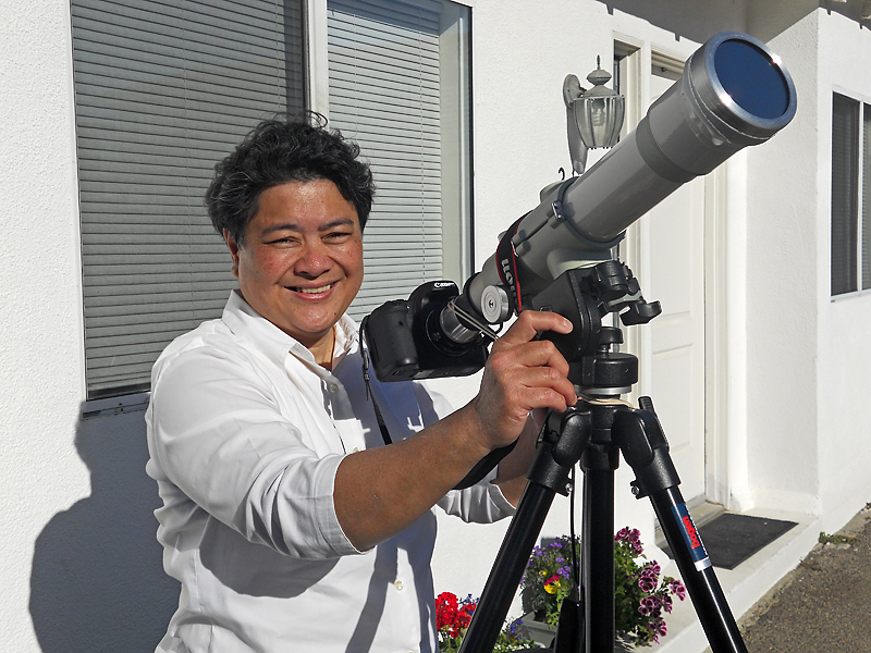 Imelda's white-light telescope