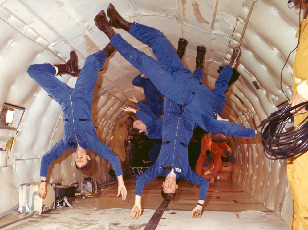 Space History Photo: Astronauts Experience Weightlessness in the KC-135