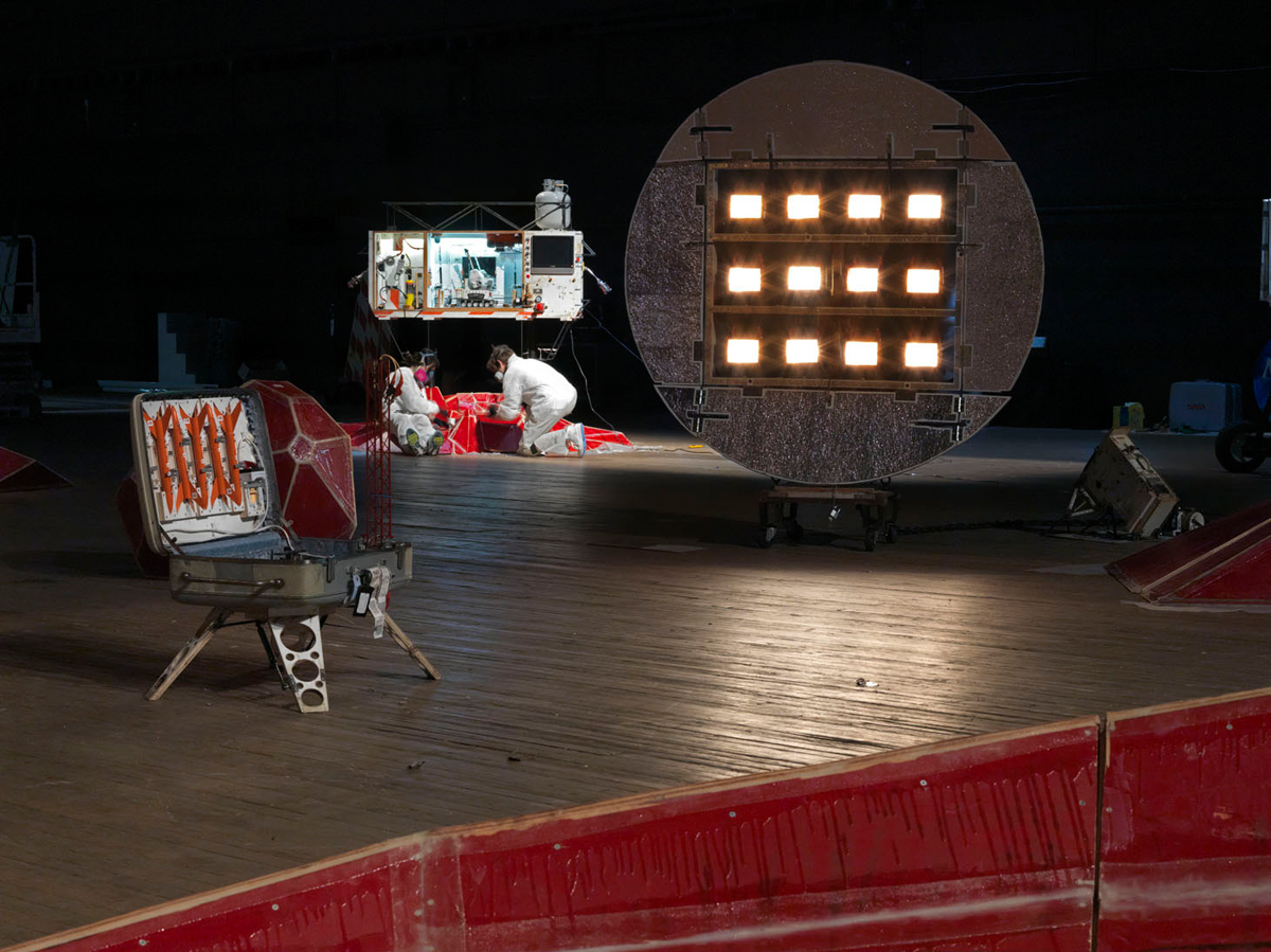 Installation view of Mars Yard in