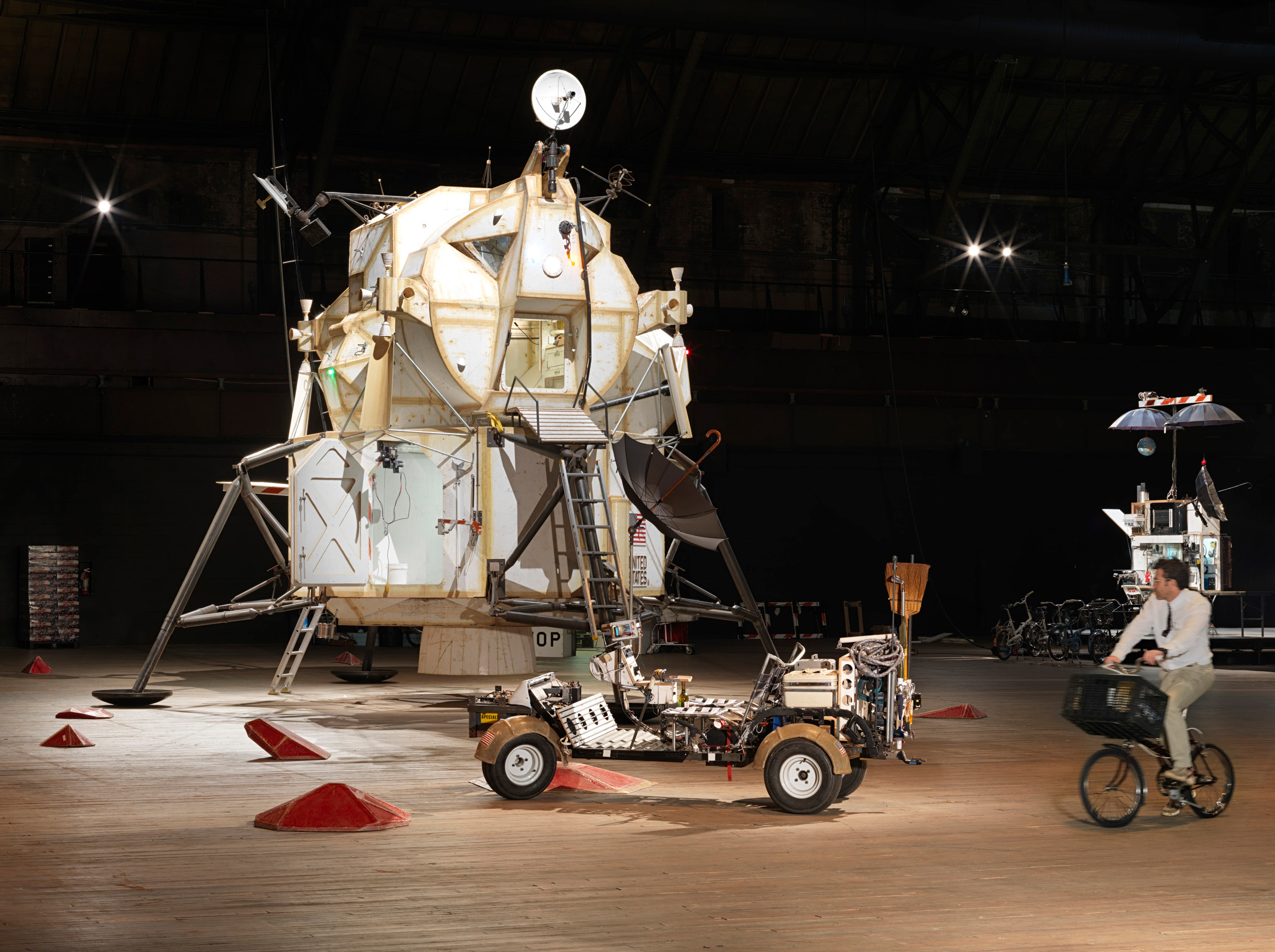 Tom Sachs on WAR Bike in