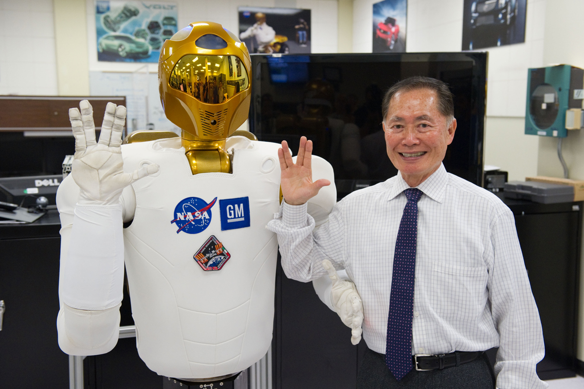 Mr. Sulu Meets Robonaut