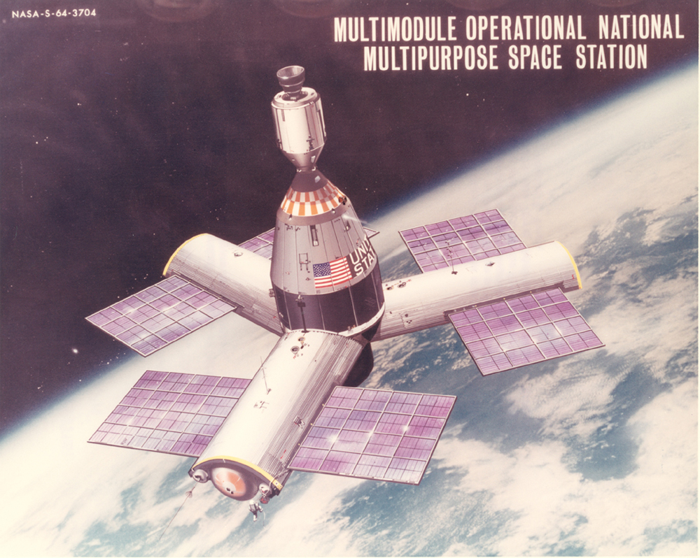 Space History Photo: Three-Radial-Module Space Station Concept