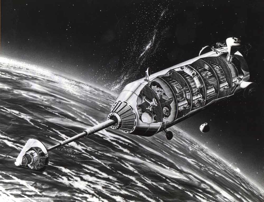 Space History Photo: Orbit and Launch Facility Concept