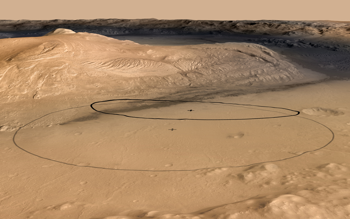 Bizarre Mars Mountain an Inviting Target for NASA's Curiosity Rover