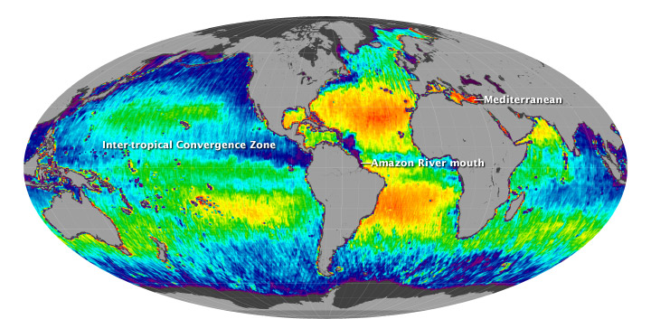 Ocean's Salt Measured from Space