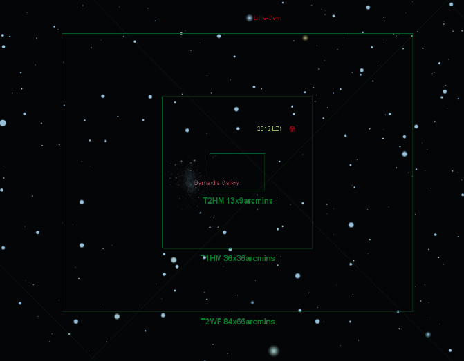 Position of Asteroid 2012 LZ1 During June 14 Flyby
