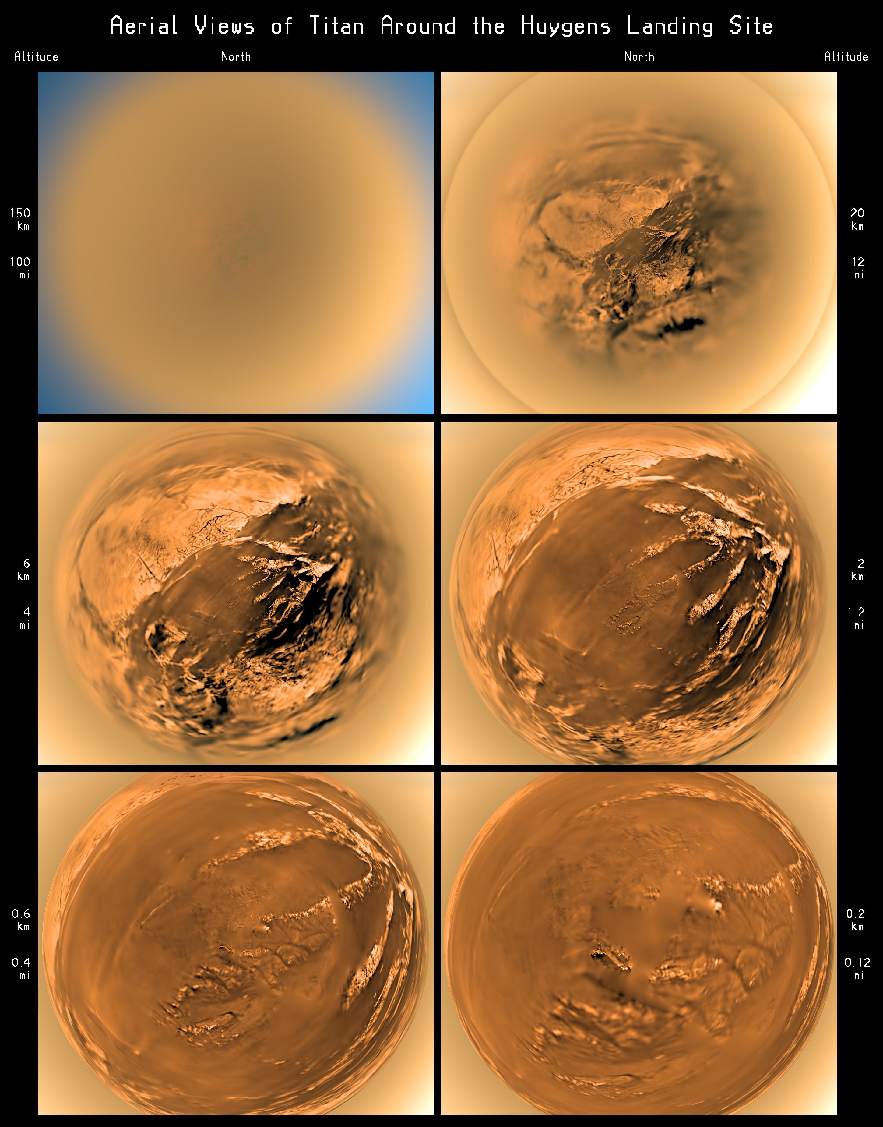 Time-Lapse Descent on Titan