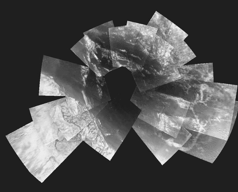 Titan Mosaic by Huygens Probe