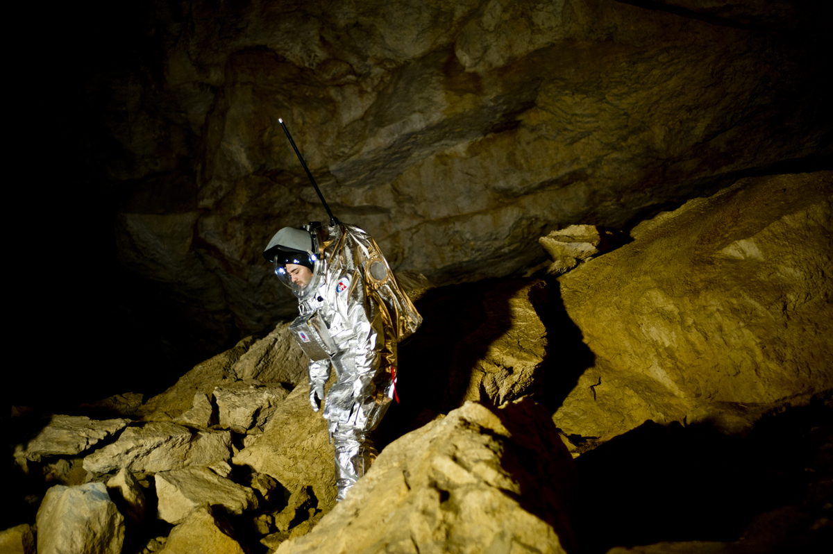 Daniel Schildhammer at the Dachstein Ice Cave