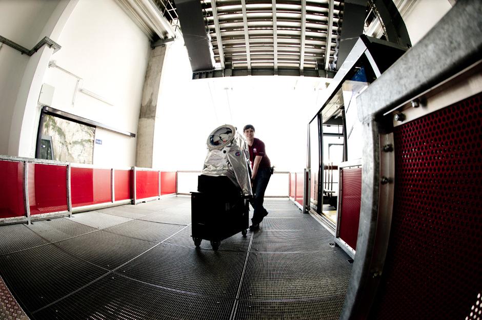 Aouda.X Spacesuit Simulator Arrival