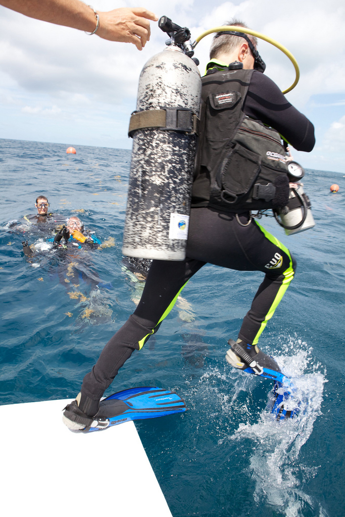 NEEMO 16 Participants Entering the Water