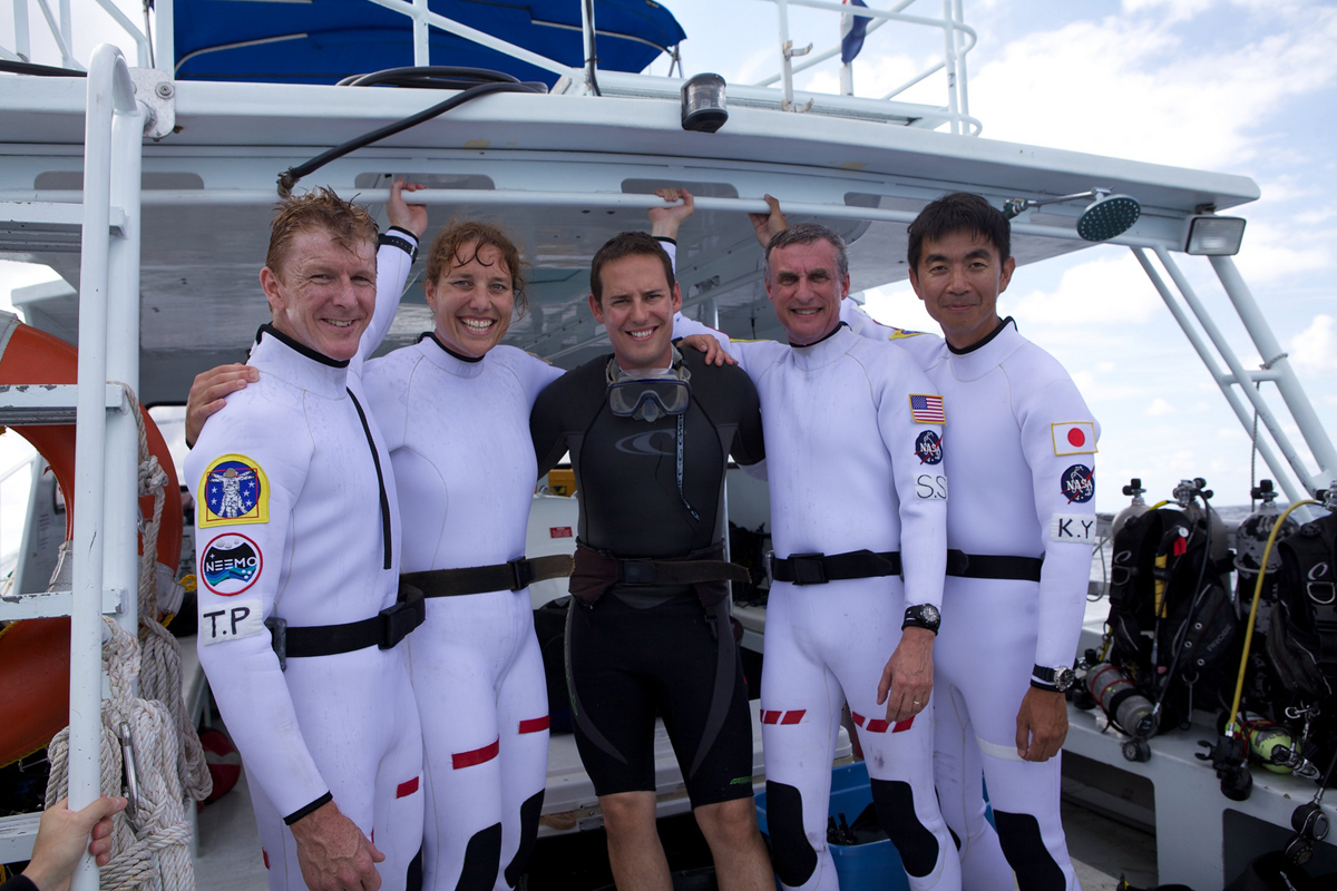 NEEMO 16 Aquanauts on Deck
