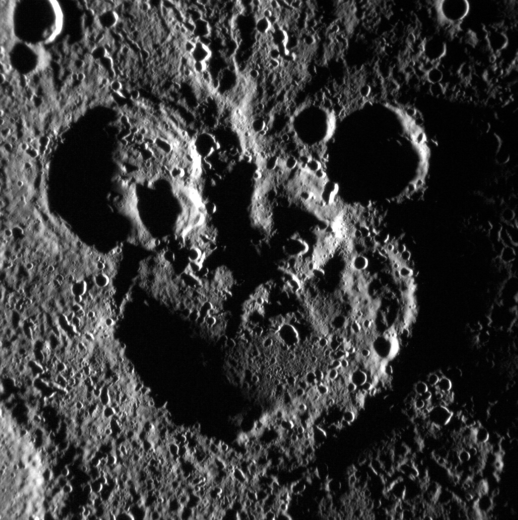 Mercury Craters Look Like Mickey Mouse in NASA Photo