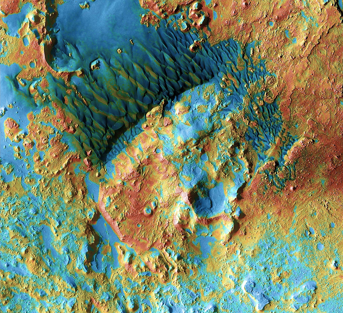 Mars Odyssey: Arabia Dunes