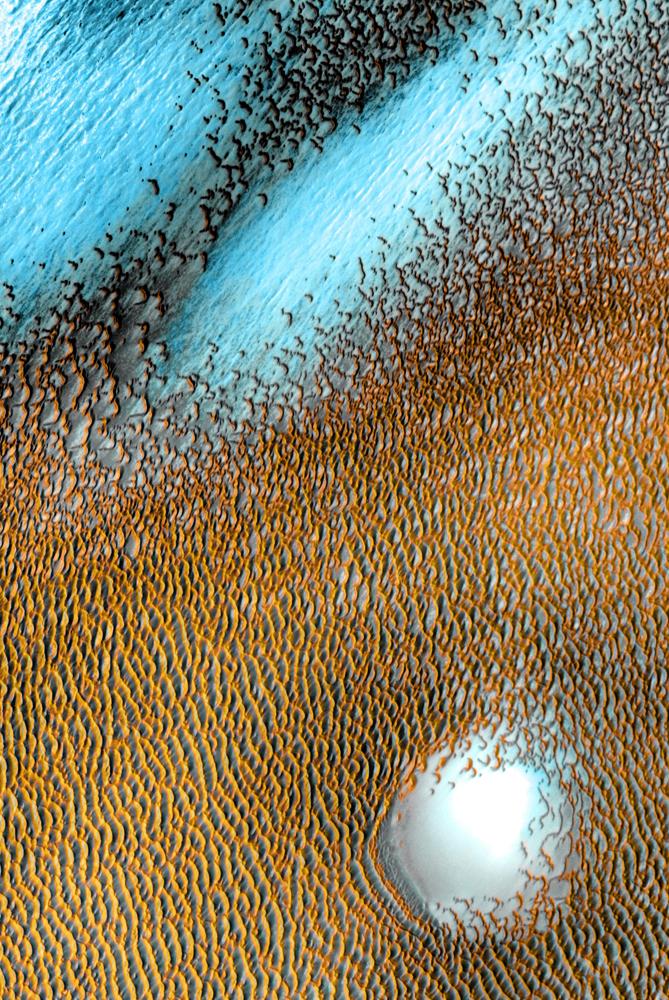 Mars Odyssey: Polar Dunes