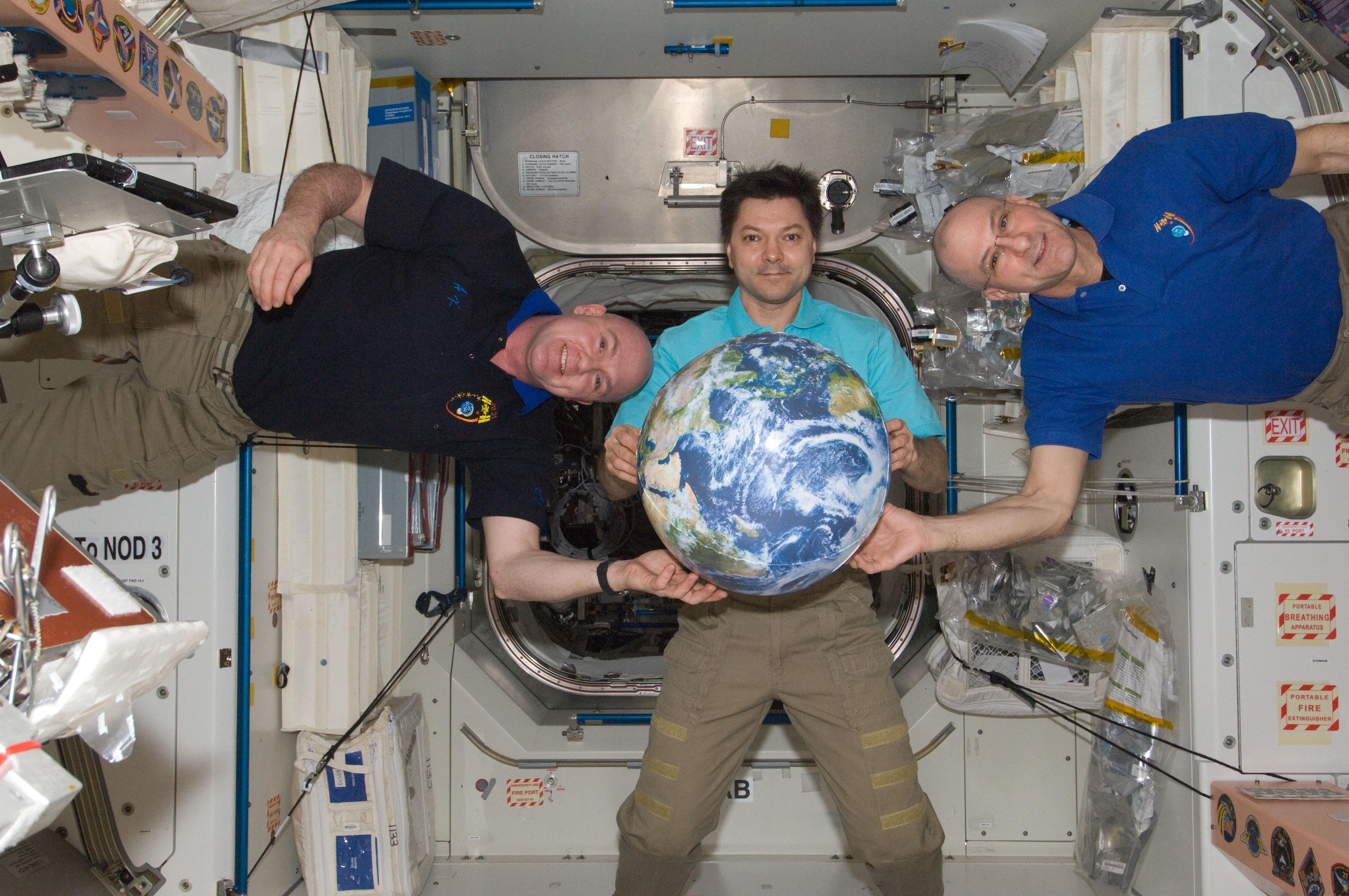Crew with Globe