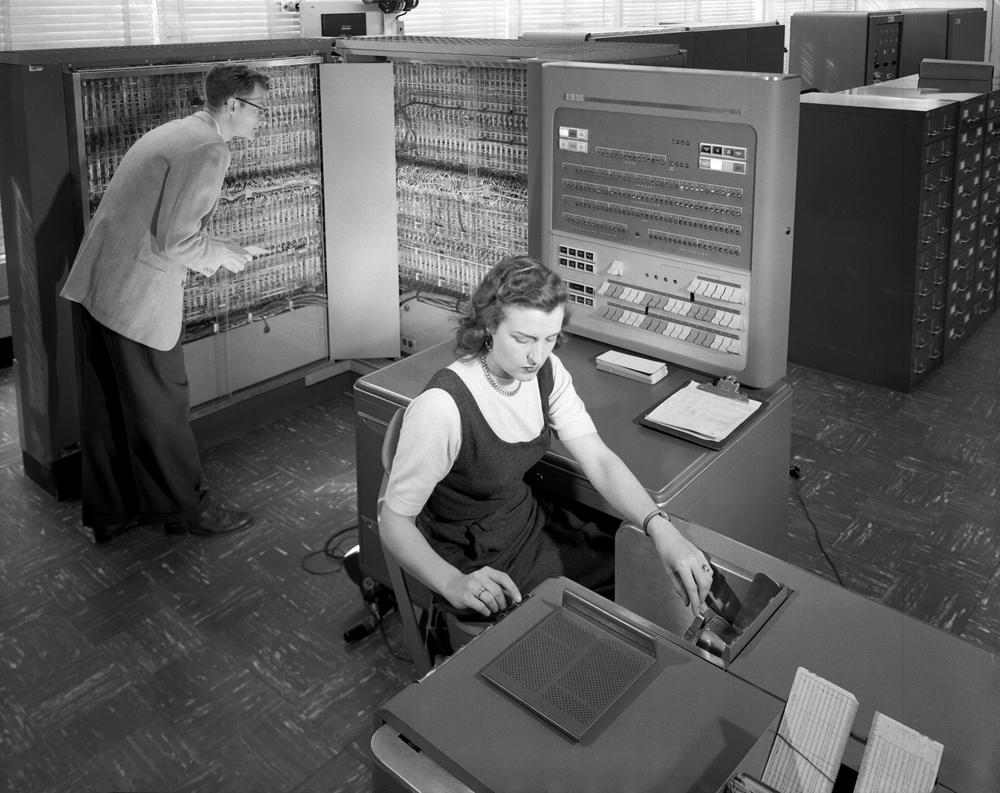 Space History Photo: Early NASA Supercomputer