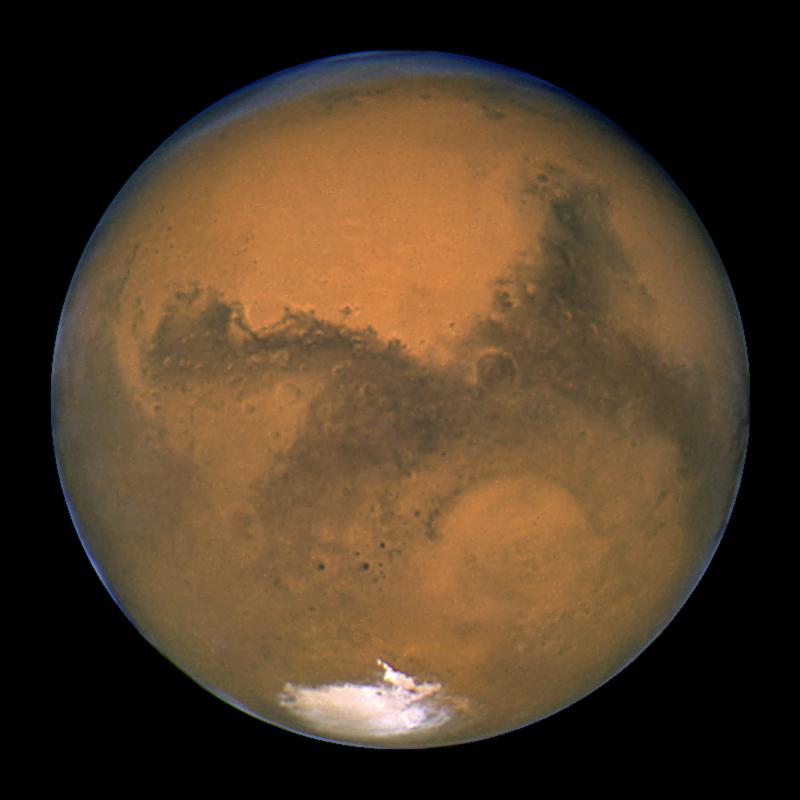 Hubble photo of Mars