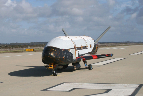 The Air Force's secret X37-B space plane landed in June 2012 after more than a year in orbit.