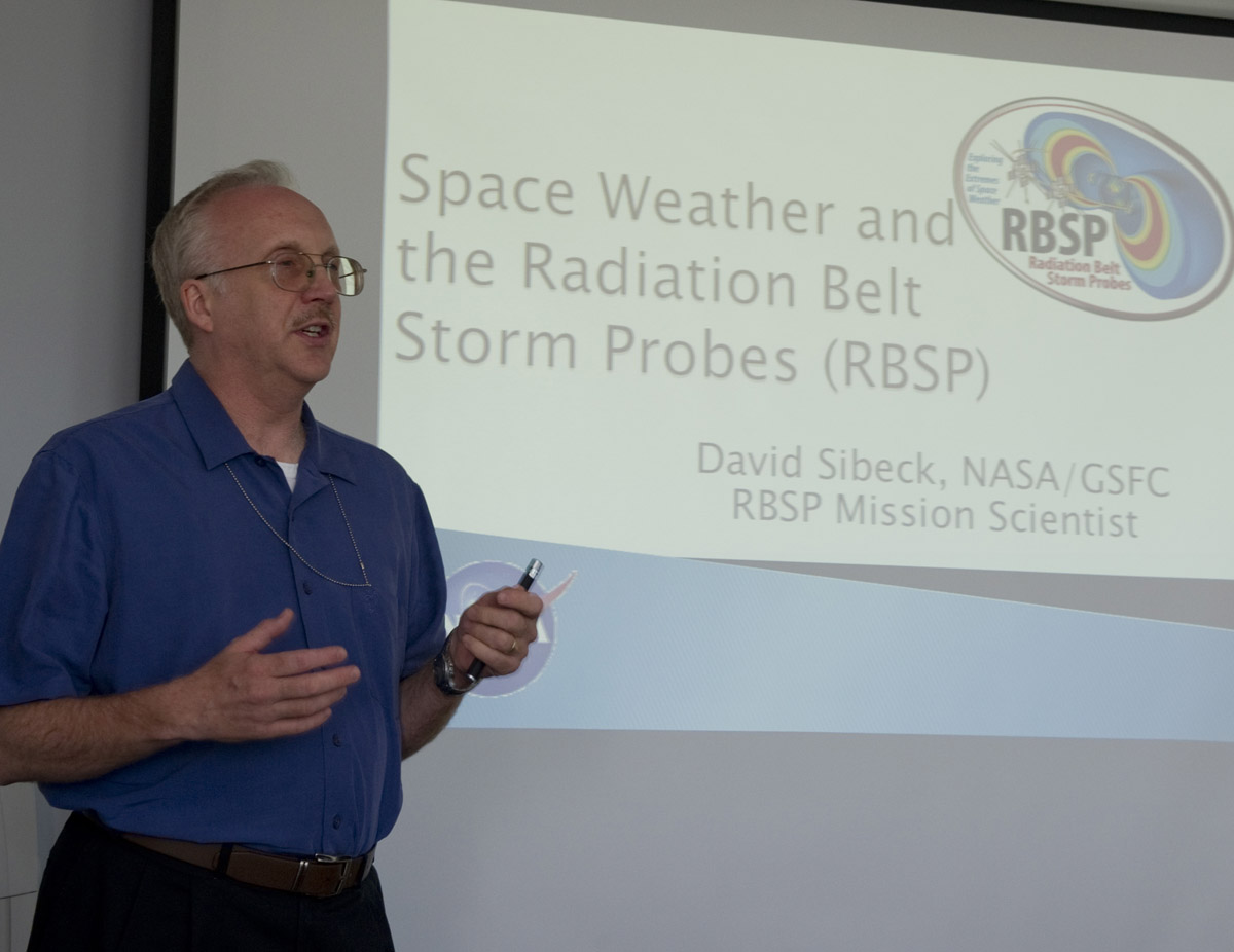 David Sibeck at the Space Weather Center